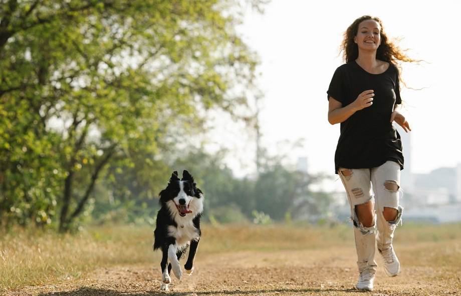 Exercise your adopted dog